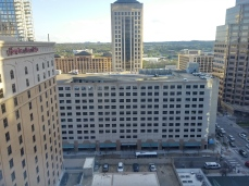 The view from our 17th story room.