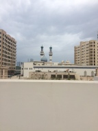View of the Blue Mosque from the rooptop of Sharjah Art Foundation spaces rooftop