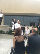 Roy Letterle explaining his concept for the space